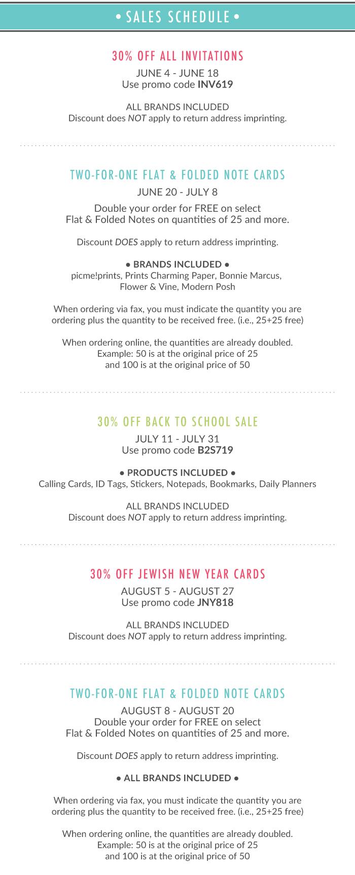 Printswell Summer Sales