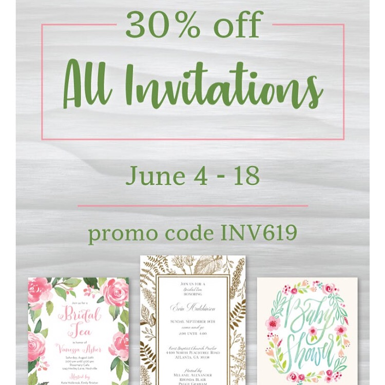 Printswell - All Invitations 30% OFF from June 4 - June 18